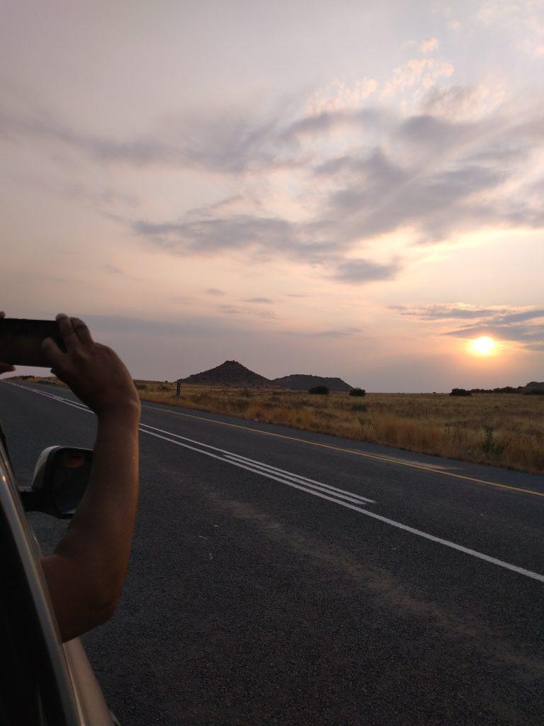 leslie javan road trip sun set